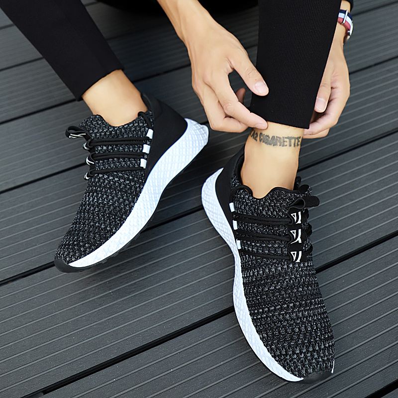 Male Breathable Comfortable Casual Shoes Fashion Men Canvas Shoes Lace up Wear-resistant Men Sneakers zapatillas deportiva 3