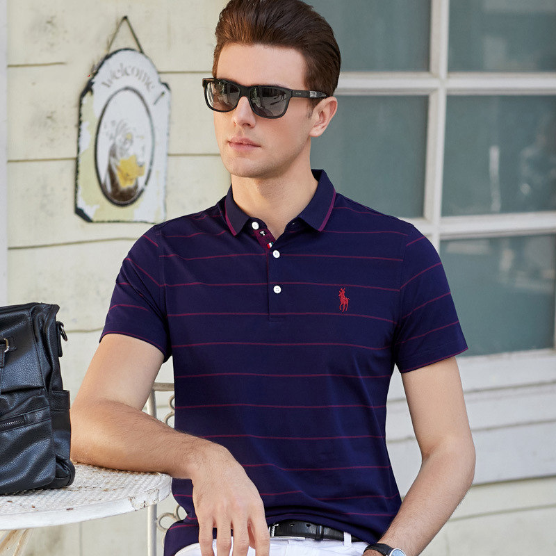 BOLUBAO Brand Men's   Polo   Shirt 2019 Summer New Embroidery Men   Polo   Shirts Business Casual Male   Polo   Stripe Tee Top