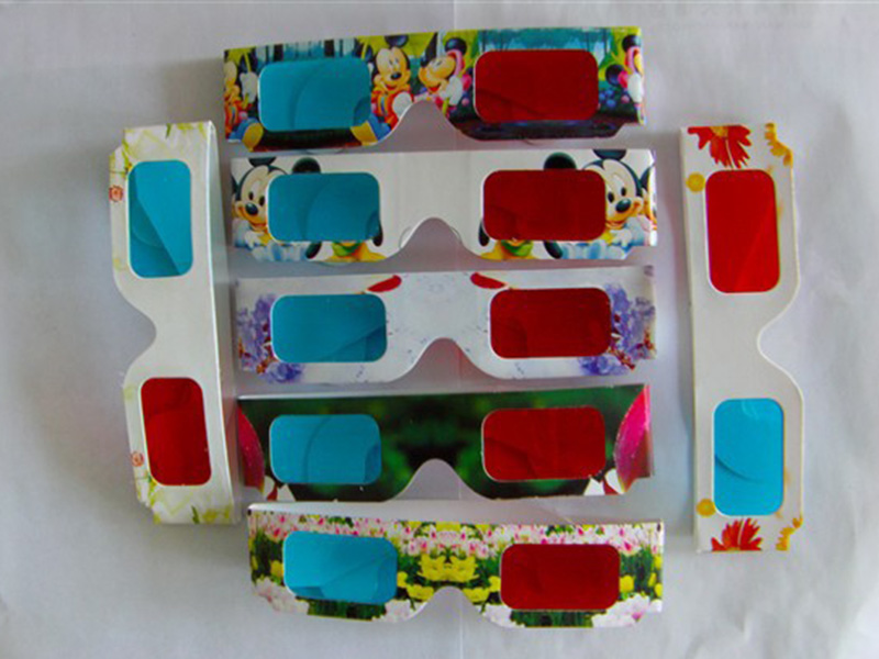 Red and Blue paper 3D glasses VR to watch 3D moive in computer and mobile phones free sh ...