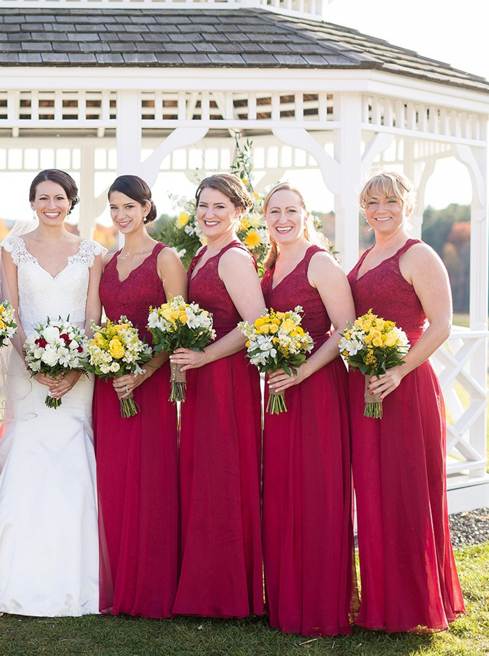 High quality bridesmaid dress deep red buy cheap bridesmaid dress bridesmaid dress deep red ombrellifo Choice Image