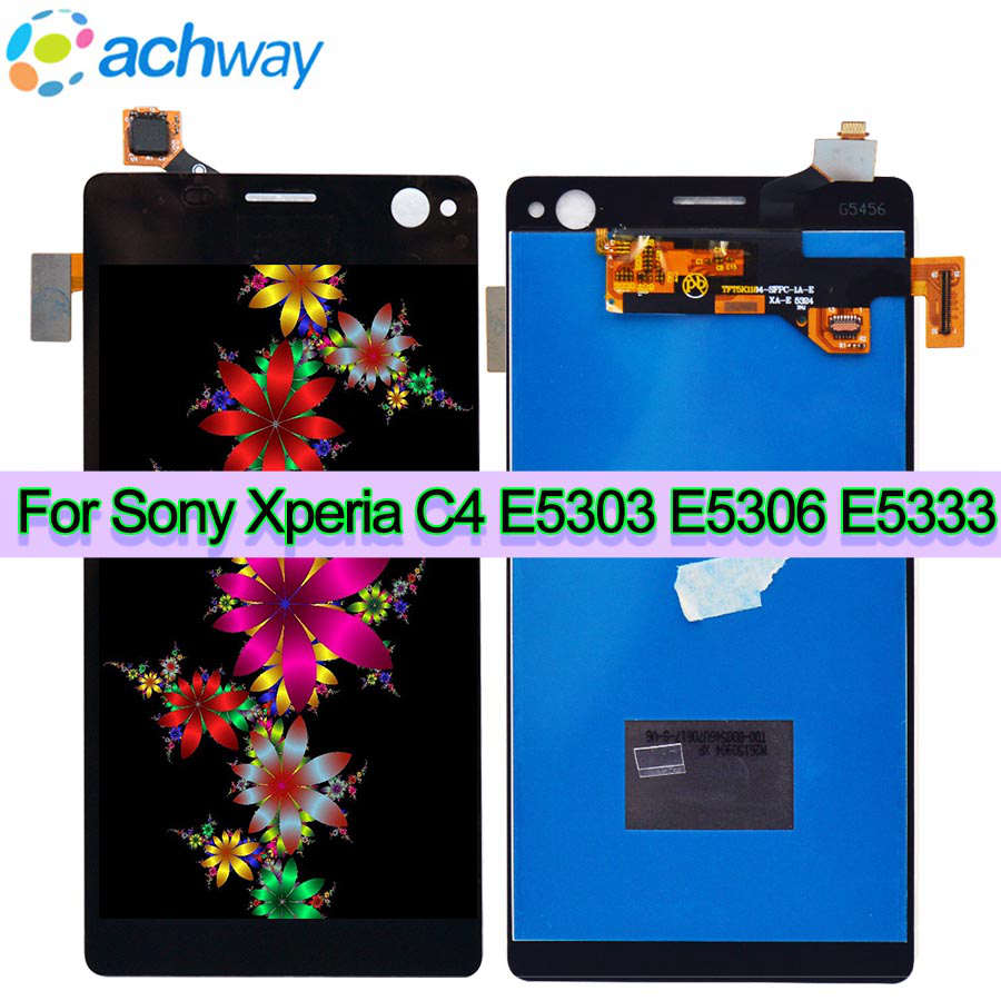 Sony Xperia C4 Display with Touch Screen Digitizer For Sony Xperia C4 LCD E5303 E5306 E5333 Display Screen