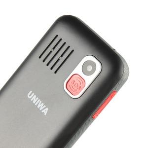 Image 5 - Uniwa V808G 2.31 Inch Mobiele Telefoon 3G Wcama Cellphone Voor Senior Oude Man Sos 1400 Mah Russische Toetsenbord 2G Mobiele Telefoon Voor Ouderen