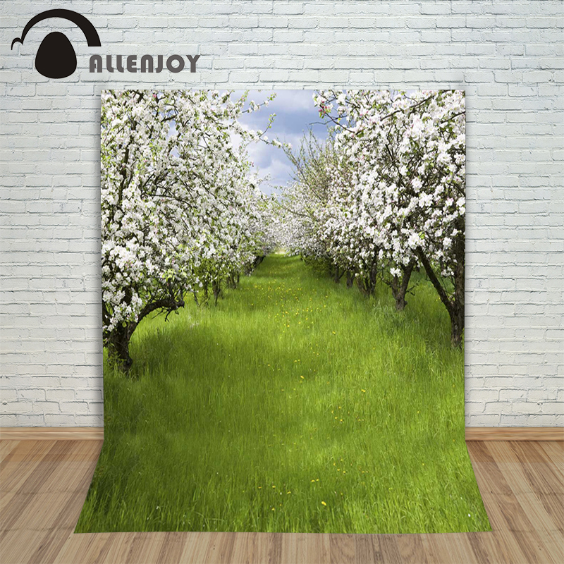 Allenjoy photographic background Meadow flowers arranged in a tree backdrops baby boy digital summer 10ft*20ft un arranged marriage