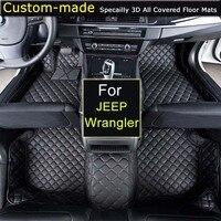 Car Floor Mats For JEEP Wrangler JK 2 4 Doors 2 Doors Sahara Rubicon Custom Carpets