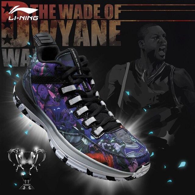 Li Ning Mens Wade วัน 2 Wade คอลเลกชันรองเท้าบาสเก็ตบอล Breathable CUSHIONING ซับรองเท้าผ้าใบกีฬารองเท้า ABPM013 SJAS17