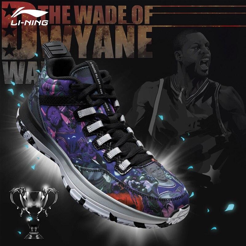 Li-ning hommes Wade toute la journée 2 Wade sur le terrain chaussures de basket-ball respirant amorti doublure baskets chaussures de sport ABPM013 SJAS17