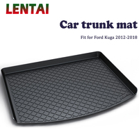 LENTAI 1PC Car rear trunk Cargo mat For Ford Kuga 2012 2013 2014 2015 2016 2017 2018 Boot Liner Tray Anti slip Mat accessories
