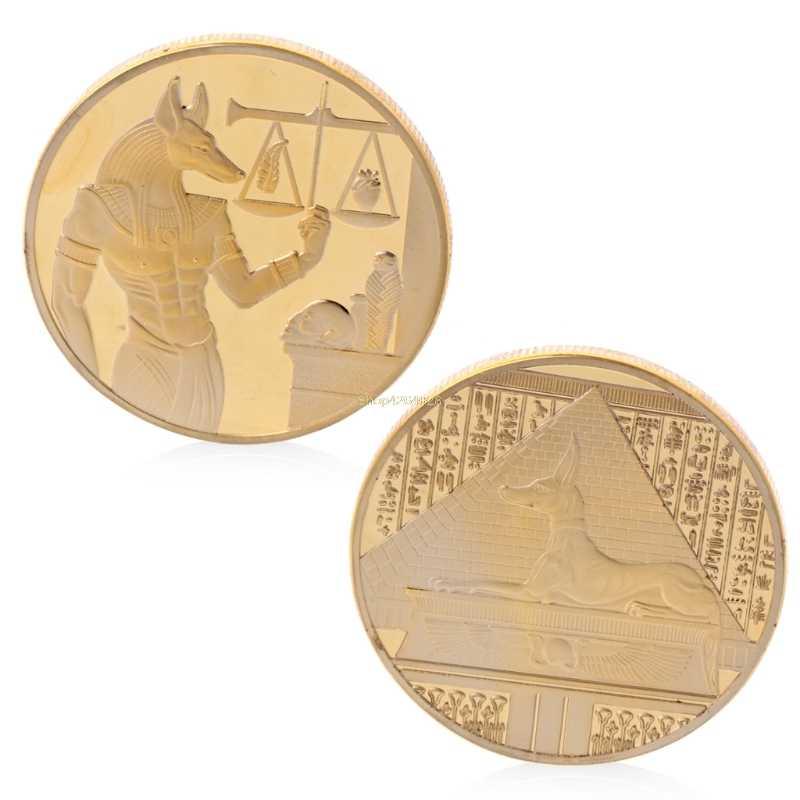 2018 Moeda Comemorativa de Prata Banhado A Lembrança Significativa Libra Egito Pirâmide Comemorativa Moeda do Desafio