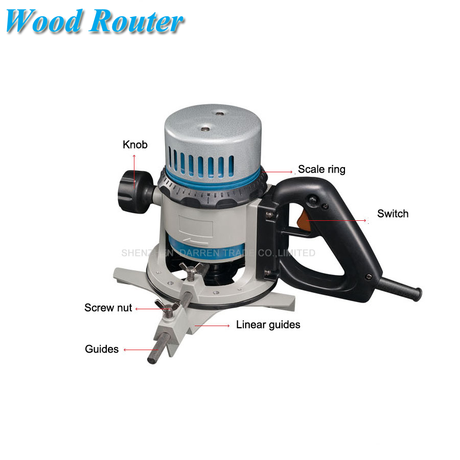 Wood Router Electric Carving Tool 12.7mm Wood Trimmer  0.5 Inch Flat Edge Trimmer Wood Engraving Machine M1R-FF03-12