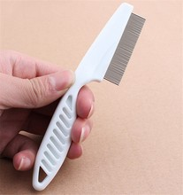 Whosale 1200pcs/lot Pet Dog Hair Flea Comb Stainless Pin Grooming Brush Comb For Cats Dogs Clean Tool