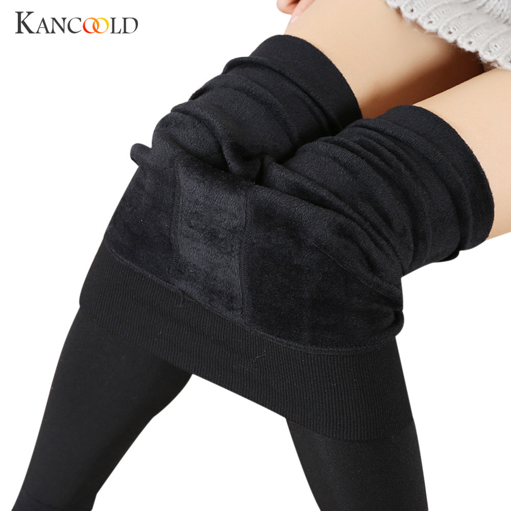Fashion Women Thick Warm Stretchy Leggings Fleece Lined ...