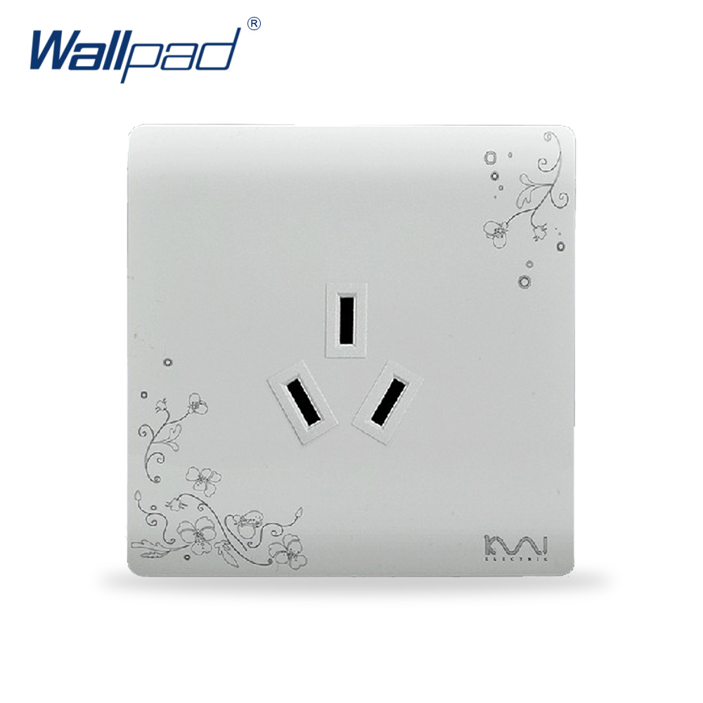 3 Pin 16A Socket Outlet 2018 Hot Sale Wallpad Luxury Wall Switch Panel Socket 86*86mm 110~250V
