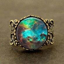 Antique VINTAGE Nebula Ring galaxy space jewelry steampunk mens women charm