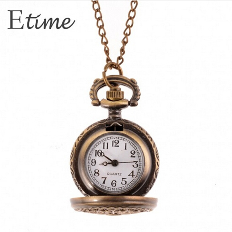 Lower Price with Spider Web Hollow Pocket Watch High Quality Retro Style Bronze Steampunk Quartz Necklace Pendant Chain Clock Dropshipping Gift Watches