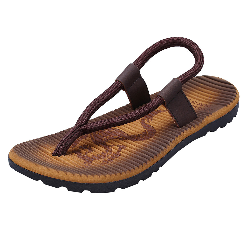 Shoes Flip-Flops Slides Beach-Sandals Outdoor-Skid Male Men's Casual Summer Fashion Flat