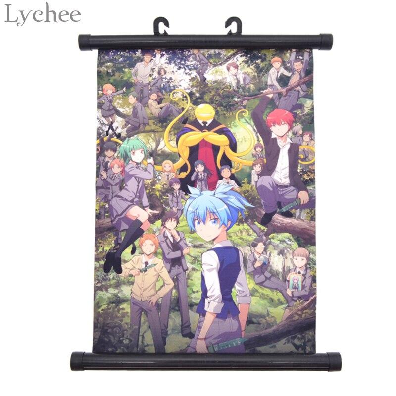 Lychee Japan Anime Assassination Classroom Korosensei Canvas Scroll Painting Home Wall Print Modern Art Decor Poster