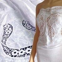 1 Yardas 91*130 cm, Falda de Tela de Encaje de Algodón Africano, Ojal Voile de Algodón Tela Del Cordón Para El Vestido blusa Del Remiendo Textil de Costura del Paño