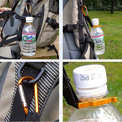 1PC Aluminum Carabiner KeyChain Hook Clip Camping Equipment EDC Gear Traveller Slide Lock Water Bottle Buckles Snap