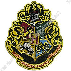 4 5 Large Harry Potter Hogwarts School Crest patch TV Movie Series clothing iron on sew