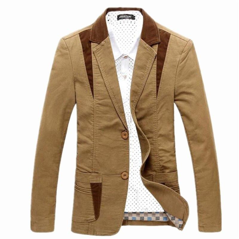 2019 Spring Autumn Men Blazers Brand Clothing Men's Cotton Suit Jacket Men Blazer Fashion Slim Male Casual Jacket Size M-6XL
