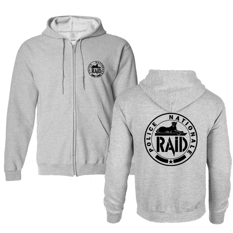 2018 Free Shipping winter men black France French Forces Unit GIGN Raid BRI sweatshirt brand cotton Special Elite Police hoodies