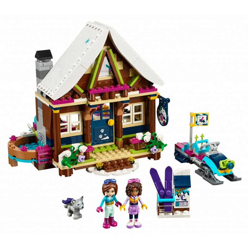 Lepin 01040 Friends Girl Series 514pcs Building Blocks Toy Snow resort chalet kids Bricks toy girl gifts Compatible Legoed 41323 lepin 01040 friends girl series 514pcs building blocks toys snow resort chalet kids bricks toy girl gifts lepin bricks 41323