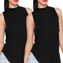 40695d501072 Compra black sleeveless turtleneck y disfruta del envío gratuito en ...