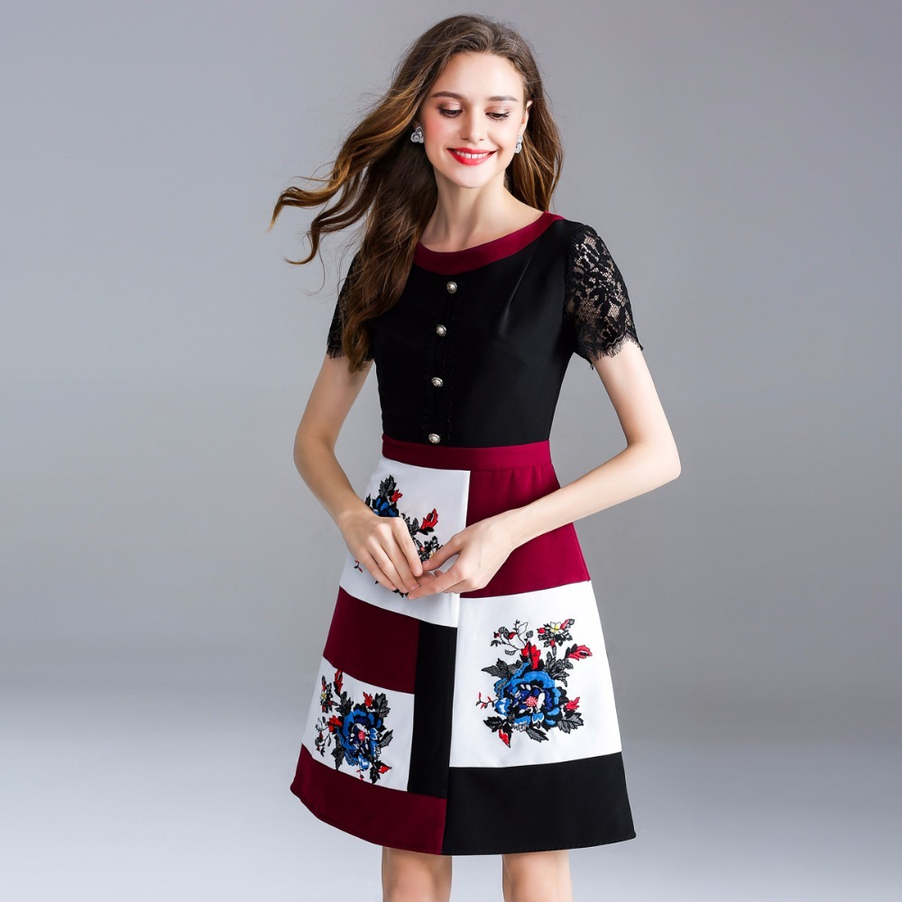3188912b4fc Livraison Gratuite Femmes Printemps 2018 Vêtements A D été Robe Tendance  Casual ligne Picture Color Robes ...