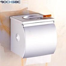 BOCHSBC Bathroom Tissue Box Waterproof Roller Paper Holder Space Alluminum Toilet Tissue Holder
