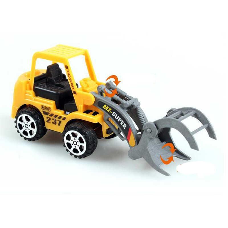 Engineering Vehicle Idea Cake Topper 4pcs PVC Toy Kids Boy Birthday Gift Spiderman Toys DIY