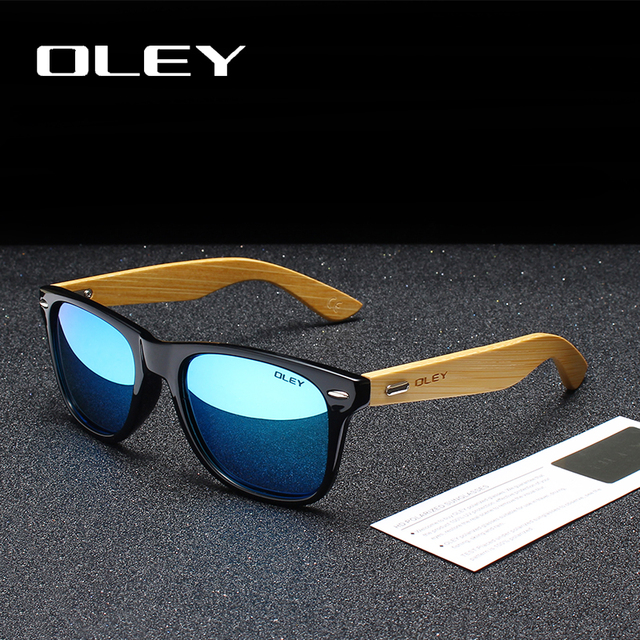 OLEY Bamboo Leg Polarized Sunglasses 2