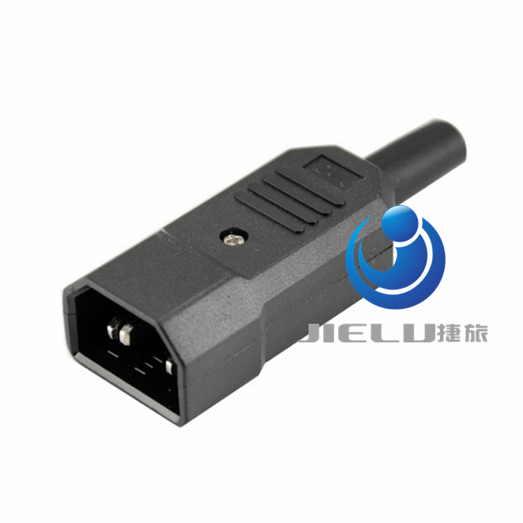 New Arrival Black 3 Pin IEC 320 C C14 Male Plug Rewirable Power Connector Socket AC 250V/10A,50 pcs free shipping iec 320 c14 to saa australia 3 pin female power adapter for pdu ups ac plug converter wpt604