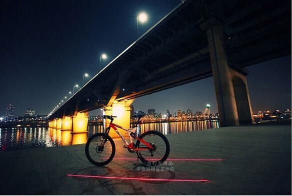 Պոչ լույս (5LED + 2Laser) անվճար - Հեծանվավազք - Լուսանկար 2