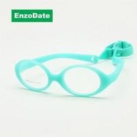 Итальянский гибкая нет винт девушки очки со шнуром размер 41 мм, Мальчики очки и ремень, Дети очки, Сгибаемыми детские очки