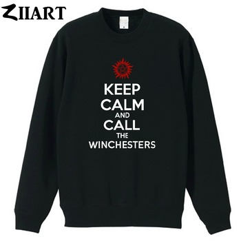 Supernatural Anti-possession KEEP CALM and CALL THE WINCHESTER couple clothes girls woman cotton autumn winter fleece Sweatshirt