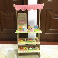Детские развивающие Игрушечные лошадки моделирование столовой сцены игра деревянная игрушка Еда набор продажи игры собрать играть дома ре