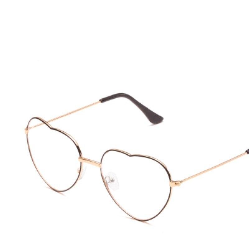 Heart Glasses Women Metal Eyeglasses Transparent Lens frame glasses for men glasses retro Gold Can be customized optical glasses in Men 39 s Eyewear Frames from Apparel Accessories
