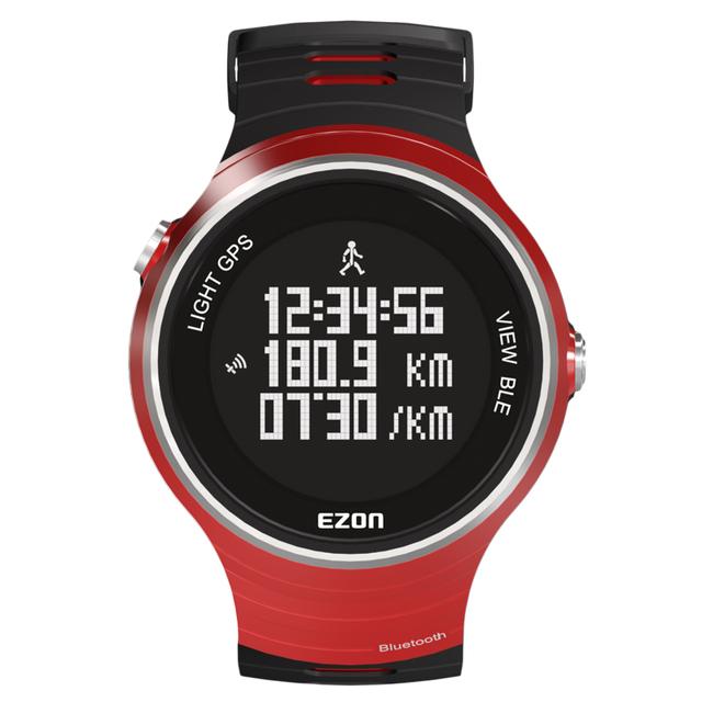 2016 Top Vendendo Original EZON G1A03 GPS Bluetooth Inteligente Relógio Digital de Esportes Em Execução para IOS Inteligente Android Telefone Vermelho