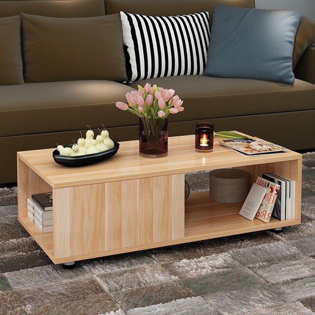 Captivating Coffee Table Living Room Furniture Home Furniture Wood Sofa Side Table  Basse Tea End Table Minimalist