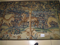2014 Gobelin Picture Tapestry Wall Hanging Pure Wool Handmade French Gobelins Weave Tapestry 141cmx228cm 4.64'x 7.48' Gc19tap4