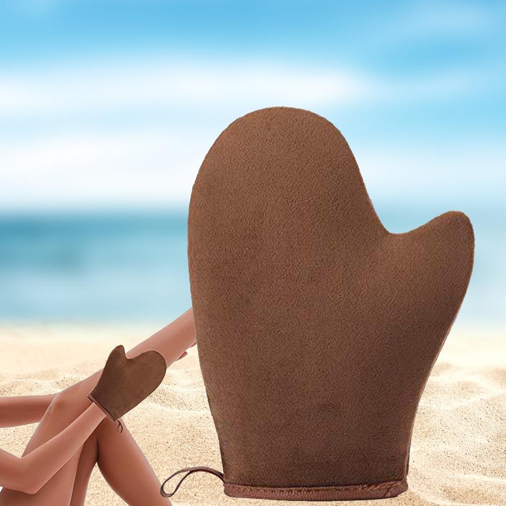 2pcs/set Vacation Beach Cream Applicator Glove Feet Soft Bath Lotion Self Tanning Sunless Body Tool Rub Sunscreen Home Outdoor