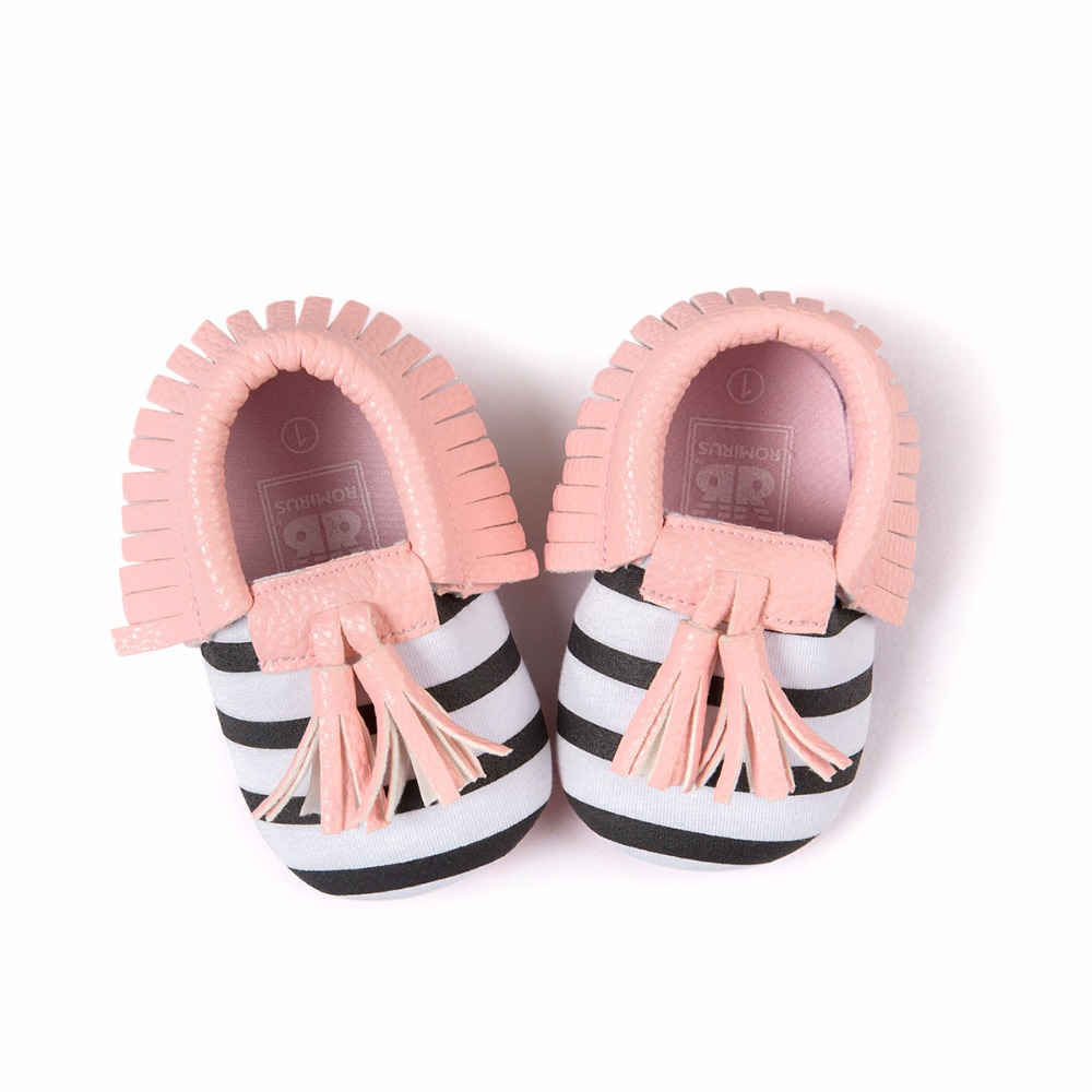 2019 New Style Fringe Suede PU Leather Baby Kid Children Soft Soled Anti-Slip First Walkes Shoes Baby Moccasins Soft Moccs Shoes