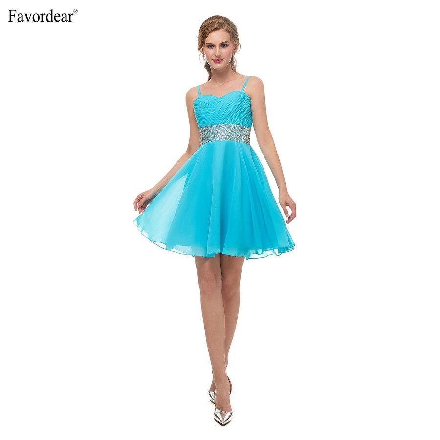 89af6a2f8 Favodear moda fiesta vestidos turquesa Sweetheart Mini Party Robe De cóctel  De gasa con cuentas vestidos formales cortos en Vestidos de fiesta de Bodas  y ...