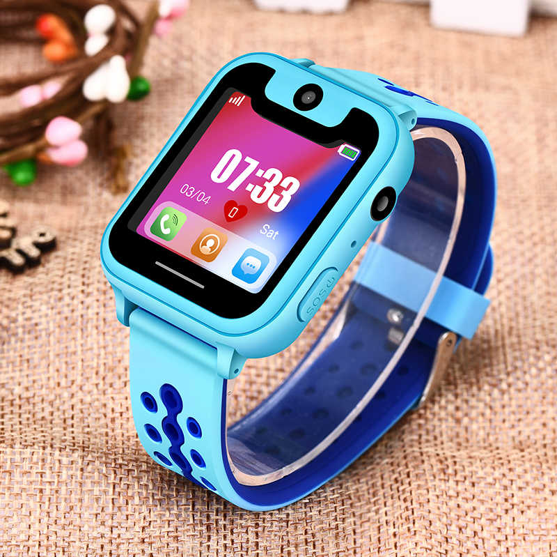 LIGE Hot Sale Children Phone Watch LBS Positioning Remote Monitoring Lighting SOS Kid Smart Watch Voice Chat SIM Card Camera+Box