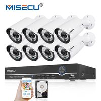 MISECU 48V 8CH 1080P POE NVR 2 0mp 48V PoE 1080P Camera P2P HDMI Metal Onvif
