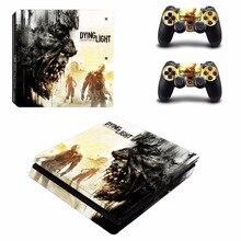 Игры Умирающий свет PS4 тонкий кожи Стикеры для Sony Игровые приставки 4 консоли и 2 Пульты ДУ для игровых приставок PS4 Slim шкуры Наклейки наклейка винил