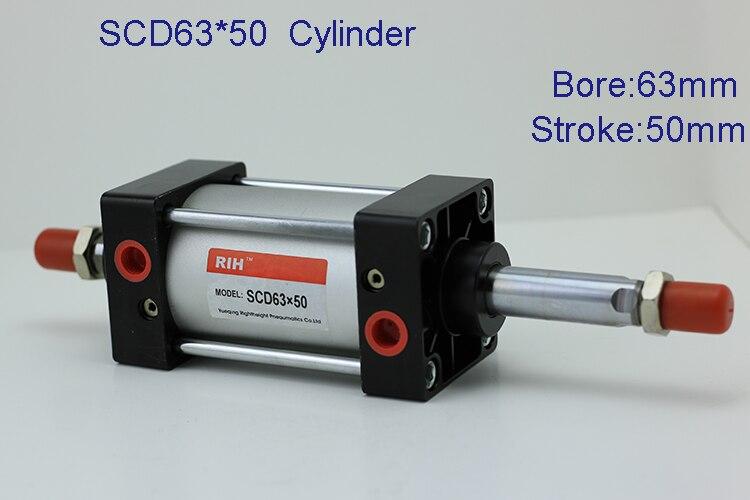 Compressed air cylinder/Pneumatic cylinder double rod type cylinder  SCD63*50 тени seventeen тени для век компактные сатиновые silky shadow satin 232