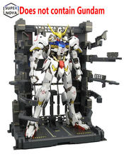 BW Gundam MG 1:100 Hangar Maintenance frame Equipment rack Support frame anime action figure model kits + Water Post