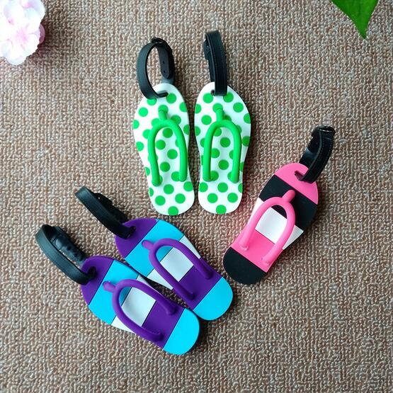 Flip Flop Luggage Tag Multi Colors Types Beach Travel Tags Identity Card Special Luggage Label Name Tags 50pcs