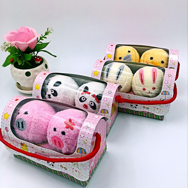 Cute Animal Compressed Travel Towel Set Gift Set With